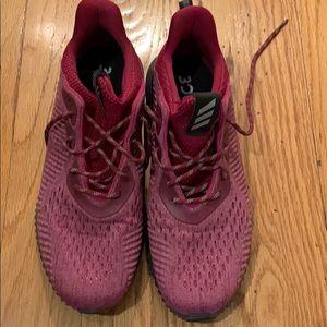 Adidas Alphabounce Trail Runner Maroon/Pink Sz 10